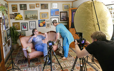 Dreharbeiten für das Jolly Arts® - Video | Foto: ©Herbert Hofmann