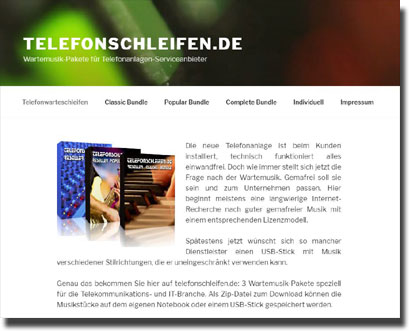 Neues Design telefonschleifen.de